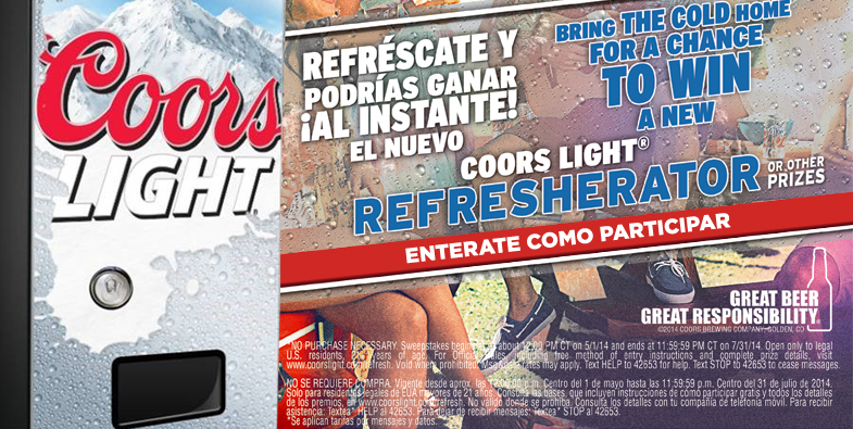 Coors Light Refresherator Promotion